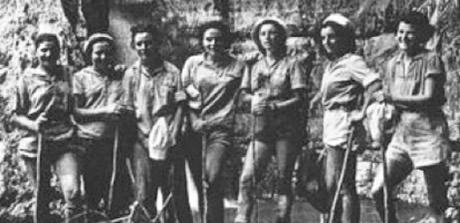 Pal'mach girls at Ein Gedi 1940's