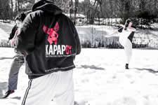 Brett Mackenzie chief instructor KAPAP Great Yarmouth training in the United States with Avi Nardia