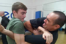 father and son training together at the KAPAP level 1 instructor course Great Yarmouth. Who's the daddy now!