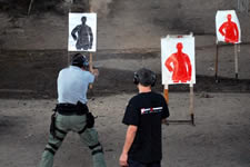 CQB Group Thailand practicing instinctve point shooting with live ammunition
