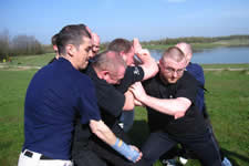 KAPAP self defence level 2 instructor training, students being pressure tested